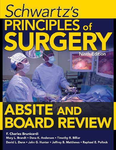 Principles of Surgery - Absite and Board Review  9th 2011 edition cover