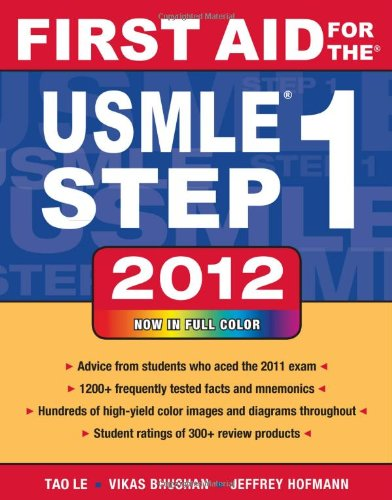 First Aid for the USMLE Step 1 2012  22nd 2012 edition cover