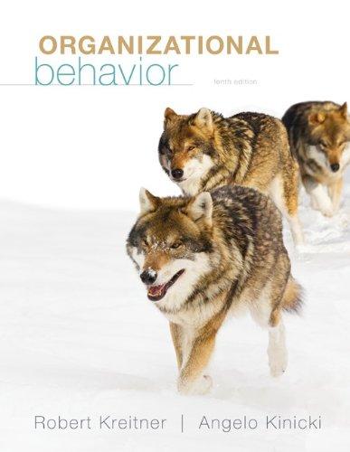 Organizational Behavior  10th 2013 edition cover