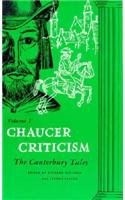 Chaucer Criticism The Canterbury Tales  1960 9780268000363 Front Cover