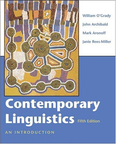 Contemporary Linguistics An Introduction 5th 2005 edition cover
