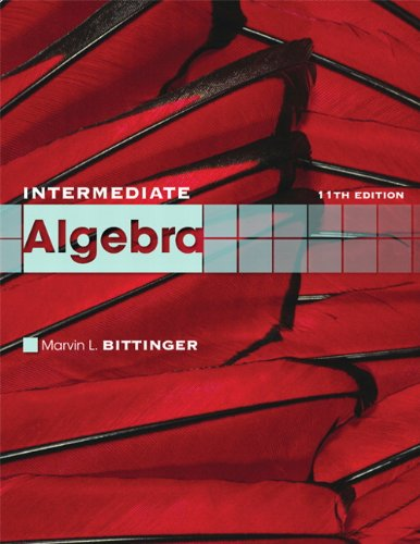 Intermediate Algebra  11th 2011 edition cover