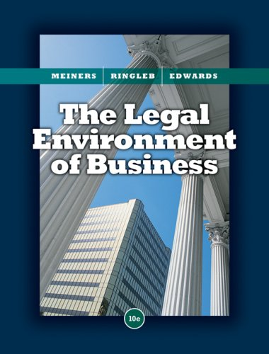 Legal Environment of Business  10th 2009 edition cover