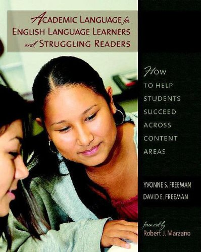 Academic Language for English Language Learners and Struggling Readers How to Help Students Succeed Across Content Areas  2008 edition cover