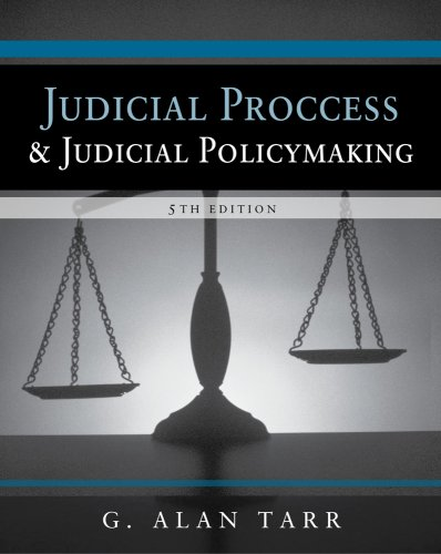 Judicial Process and Judicial Policymaking  5th 2010 edition cover