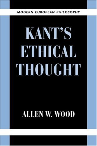 Kant's Ethical Thought   1999 edition cover