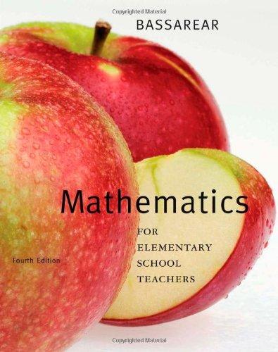 Mathematics for Elementary School Teachers  4th 2008 edition cover