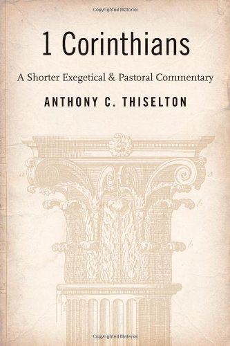 1 Corinthians a Shorter Exegetical and Pastoral Commentary  N/A edition cover