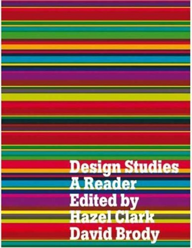 Design Studies A Reader  2009 edition cover