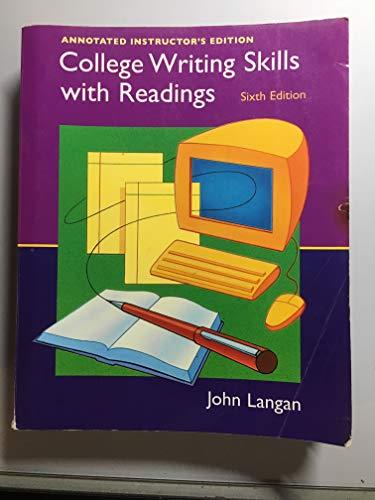 COLLEGE WRIT.SKILLS W/RDGS.W/C 6th 2005 edition cover