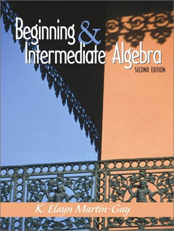 Beginning and Intermediate Algebra  2nd 2001 edition cover