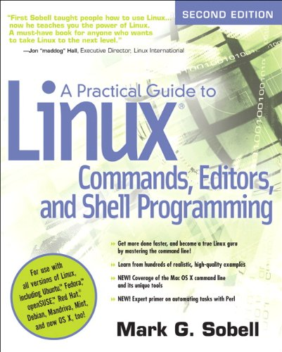 Practical Guide to Linux Commands, Editors, and Shell Programming  2nd 2010 edition cover