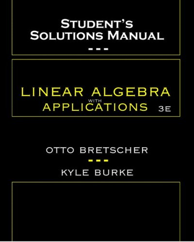 Linear Algebra with Applications Ssm  3rd 2005 edition cover