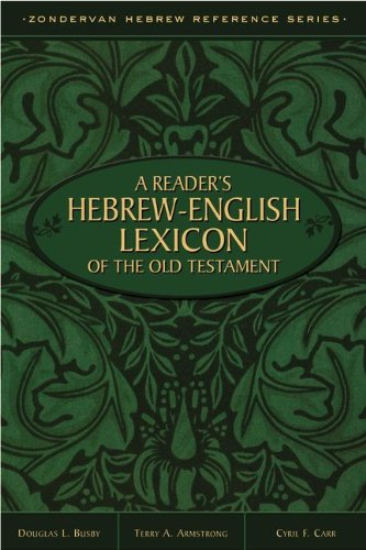 Reader's Hebrew-English Lexicon of the Old Testament   2013 edition cover