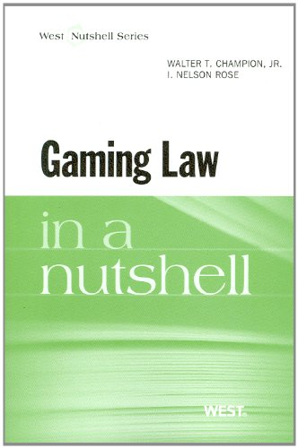 Gaming Law in a Nutshell   2012 edition cover