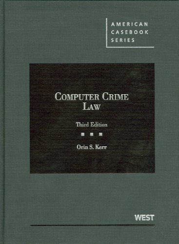 Computer Crime Law:   2012 edition cover
