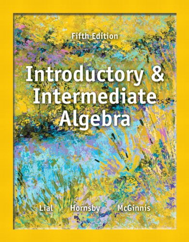 Introductory and Intermediate Algebra  5th 2014 edition cover