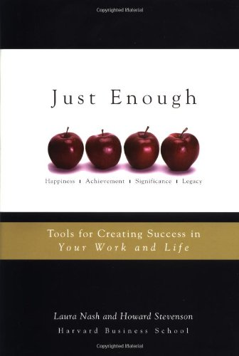 Just Enough Tools for Creating Success in Your Work and Life  2004 9780471458364 Front Cover