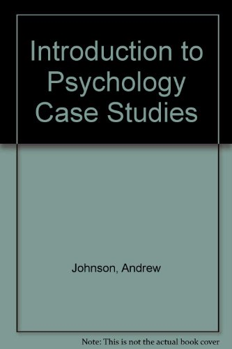 Introduction to Psychology Case Studies  2009 (Revised) 9780757569364 Front Cover