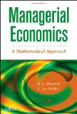 Managerial Economics A Mathematical Approach  2013 edition cover