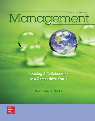 Management - Leading and Collaborating in the Competitive World  11th 2015 edition cover