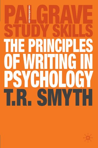 Principles of Writing in Psychology   2004 9781403942364 Front Cover