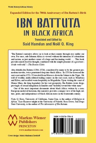 Ibn Battuta in Black Africa Expanded Edition for the 700th Anniversary of Ibn Batutta's Birth 500th 2004 (Expanded) edition cover