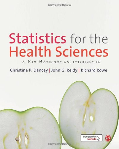 Statistics for the Health Sciences A Non-Mathematical Introduction  2012 edition cover