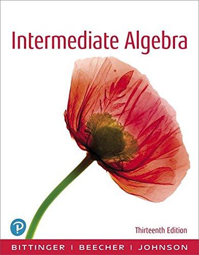 Intermediate Algebra:   2018 9780134707365 Front Cover
