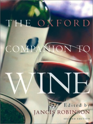 Oxford Companion to Wine  2nd 1999 (Revised) edition cover