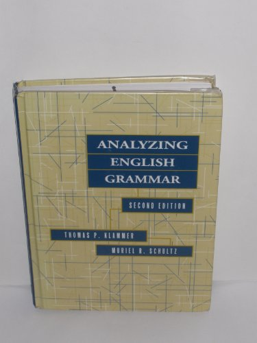 Analyzing English Grammar  2nd 1996 edition cover