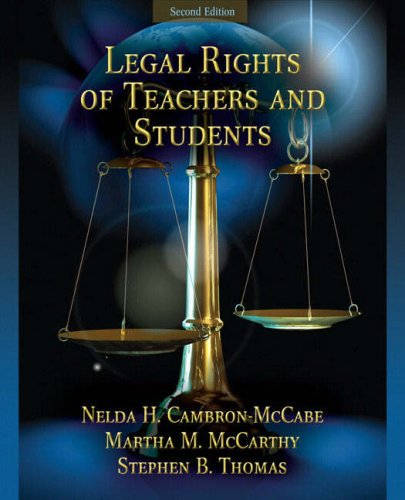 Legal Rights of Teachers and Students  2nd 2009 edition cover