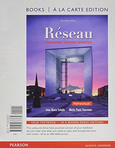 Réseau: Communication, Integration, Intersections; Books a La Carte Edition  2014 edition cover