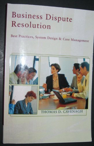 BUSINESS DISPUTE RESOLUTION >C 1st edition cover