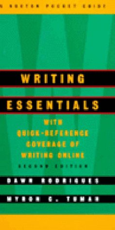 Writing Essentials A Norton Pocket Guide 2nd 1999 edition cover