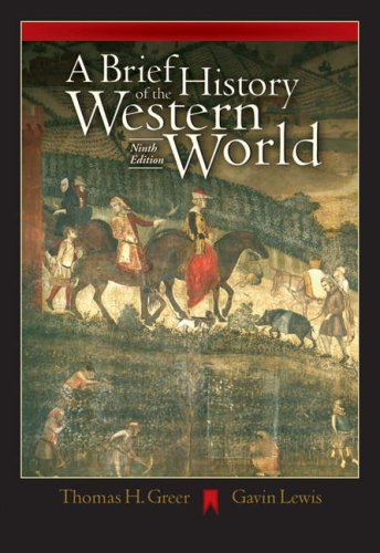 Brief History of the Western World  9th 2005 9780534642365 Front Cover