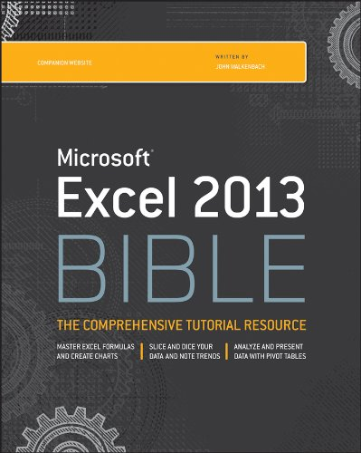 Excel 2013 Bible   2013 9781118490365 Front Cover