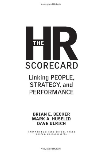 HR Scorecard Linking People, Strategy, and Performance  2001 edition cover