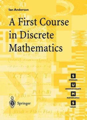 First Course in Discrete Mathematics   2002 edition cover