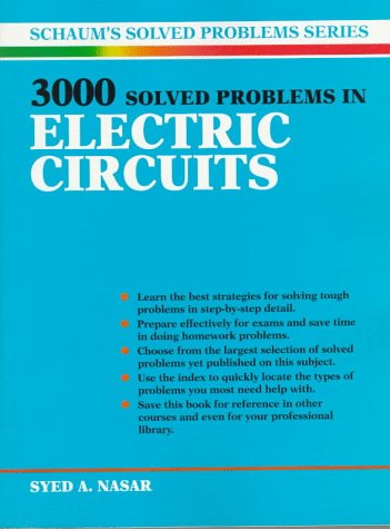 3,000 Solved Problems in Electrical Circuits   1988 (Revised) edition cover