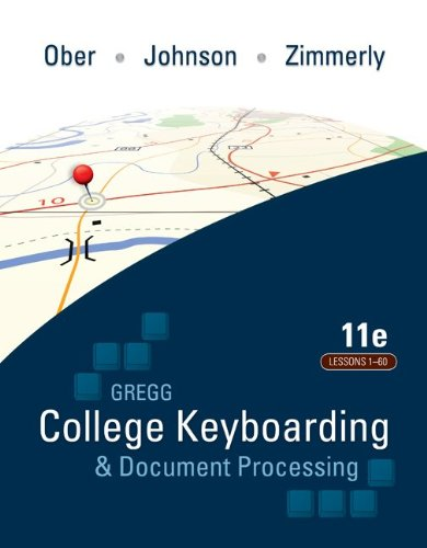 Gregg College Keyboarding and Document Processing  11th 2011 9780077319366 Front Cover