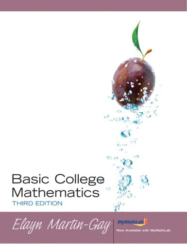 Basic College Mathematics  3rd 2006 (Revised) edition cover