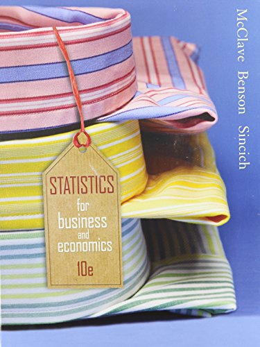 Statistics for Business and Economics 10th 2008 9780135138366 Front Cover