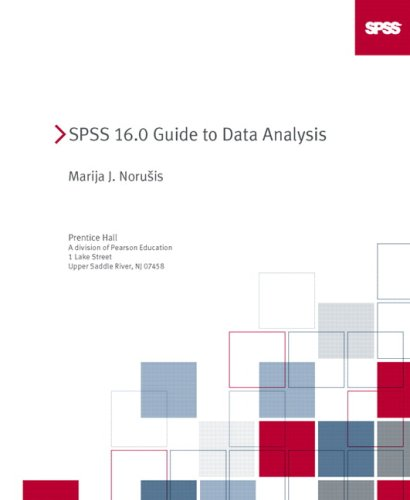 SPSS 16. 0 Guide to Data Analysis  2nd 2009 edition cover