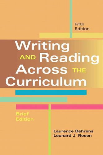 Writing and Reading Across the Curriculum, Brief Edition  5th 2014 edition cover