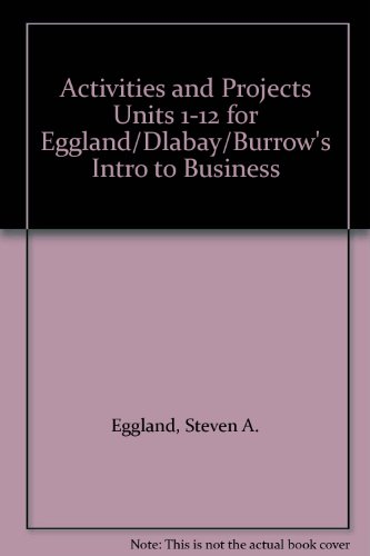 Intro to Business: Activities and Projects Units 1-12 5th 2003 9780538436366 Front Cover
