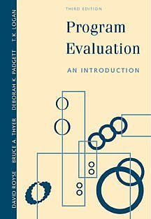 Program Evaluation An Introduction 3rd 2001 edition cover
