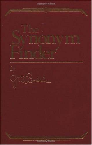 Synonym Finder   1997 (Revised) 9780878572366 Front Cover