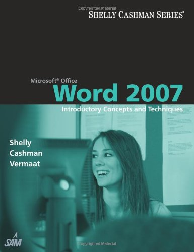 Microsoft Office Word 2007 Introductory Concepts and Techniques  2008 edition cover