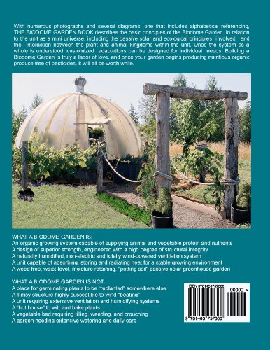 Biodome Garden Book The Only Greenhouse Design That Needs No Electrical Ventilation or Humidifying System  2011 edition cover
